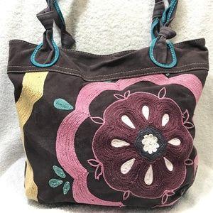 FOSSIL Long Live Vintage Floral Canvas Tote Bag